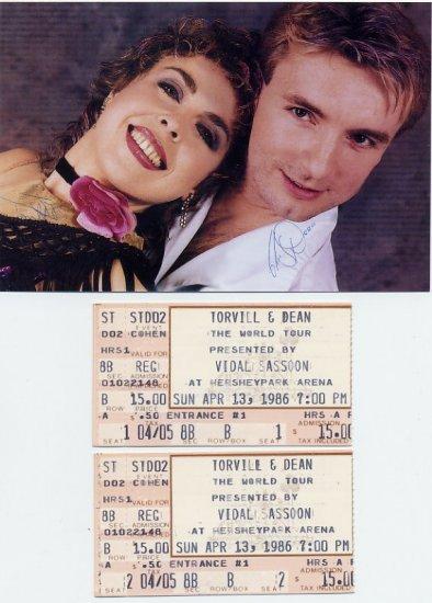 Legendary Ice Dancers TORVILL / DEAN - 1986 World Tour Tickets & Pict