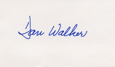 1973-77 Illinois Governor DANIEL WALKER Hand Signed Card 1974