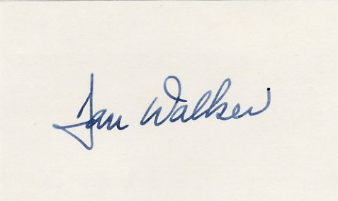 1973-77 Illinois Governor DANIEL WALKER Hand Signed Card 1976 #2