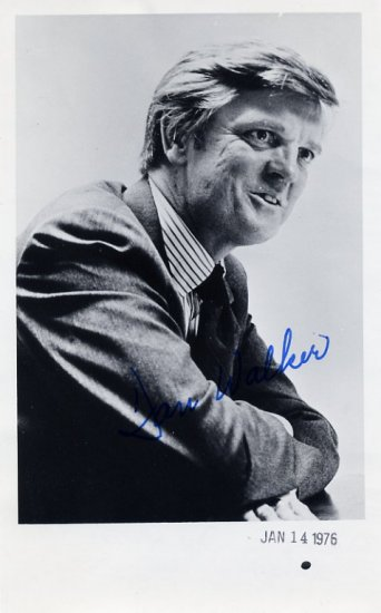 1973-77 Illinois Governor DANIEL WALKER Hand Signed Photo 1976