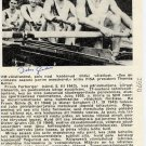 1968 Mexico City & 1972 Munich Rowing Gold DIETER GRAHN Autographed Magazine Pict 1970
