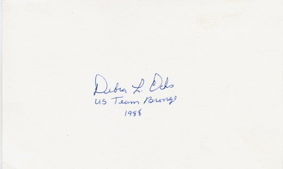 1988 Seoul Archery Bronze DEBRA OCHS Autographed Card