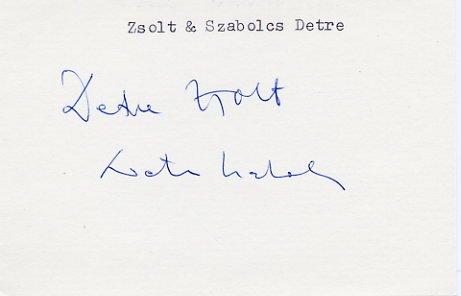 1980 Moscow Sailing Bronze ZSOLT & SZABOLCS DETRE  Autographs