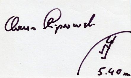 1968 Mexico City Pole Vault Silver CLAUS SCHIPROWSKI Autograph & Sketch