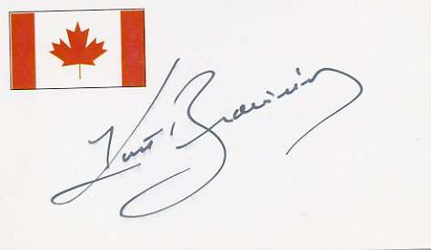 Four-Time Figure Skating World Champion KURT BROWNING Autographed Card