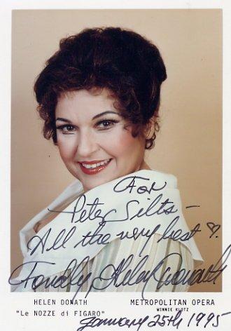 """""""Le Nozze di Figaro"""" Soprano HELEN DONATH Autographed Photo 1995"""