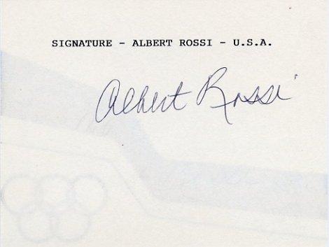 1952 Helsinki Rowing Bronze ALBERT ROSSI Autographed Card