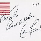 Pioneering Surgeon LEONARD BAILEY Autographed Card 1995