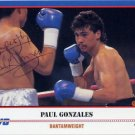 1984 Los Angeles Boxing Gold PAUL GONZALES Autographed Kayo Boxing Card
