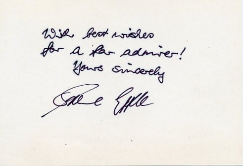 1980 Lake Placid Alpine Skiing Silver IRENE EPPLE Autograph Note Signed from 1981