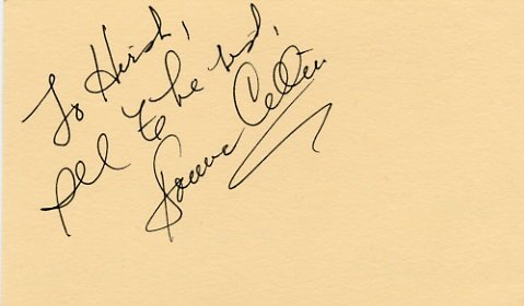 American Singer DONNA CELLINI Autographed Card 1985