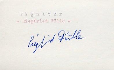 1964 Tokyo & 1968 Mexico City Gymnastics Bronze SIEGFRIED FULLE Autograph