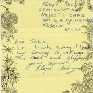 Jamaica - 1978 Commonwealth Games Relay Medalist FLOYD BROWN Autograph Note Signed 1982