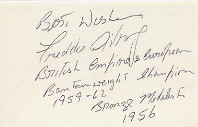 1956 Melbourne Boxing Bronze FREDDIE GILROY  Autograph