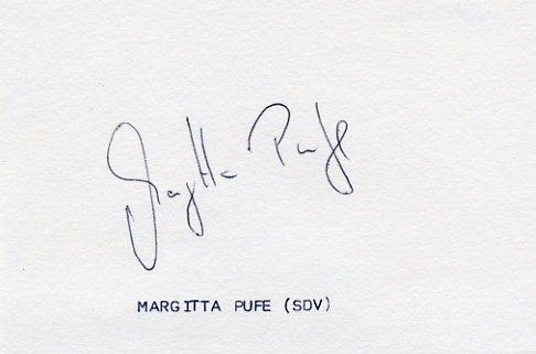 1980 Moscow Athletics Shot Put Bronze MARGITTA PUFE  Autograph