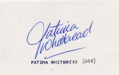 1984 Los Angeles & 1988 Seoul Javelin Medalist FATIMA WHITBREAD Autograph