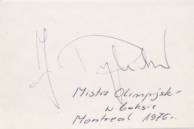 1976 Montreal Boxing Gold JERZY RYBICKI Autograph
