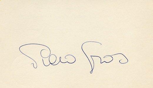 1976 Innsbruck Alpine Skiing Gold PIERO GROS Autograph