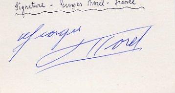 1964 Tokyo Rowing Silver GEORGES MOREL Autograph