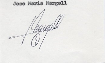 1984 Los Angeles Basketball Silver JOSE MARIA MARGALL Autograph 1980s