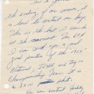 Michigan State  - 1960 Cross Country Champion JERRY YOUNG Autograph Letter Signed 1960s