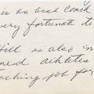 1930s Wisconsin Track Star & West Point Head Track Coach CARLETON CROWELL Autograph Note