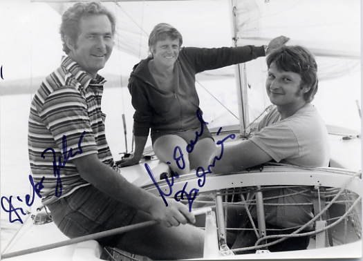1976 Montreal Sailing Bronze DIETER BELOW / MICHAEL ZACHRIES Autographed Photo
