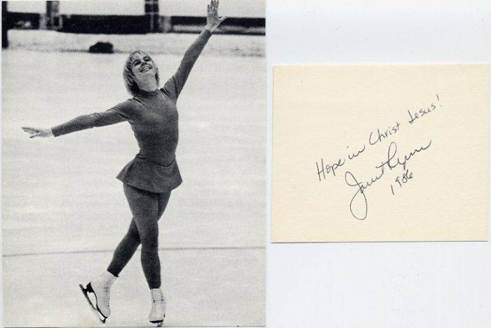 1972 Sapporo Figure Skating Bronze JANET LYNN Autograph 1986 & Pict