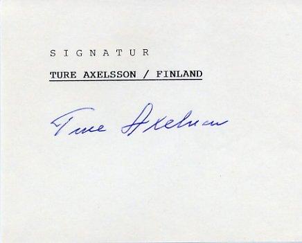 1948 London Canoeing Bronze TURE AXELSSON Autograph