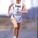 1988 Seoul Athletics Marathon Bronze KATRIN DORRE Autographed Photo Card