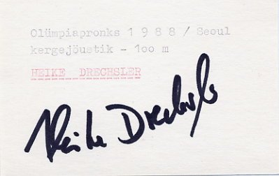1988-2000 Athletics Five Olympic Medals HEIKE DRECHSLER  Autograph 1988