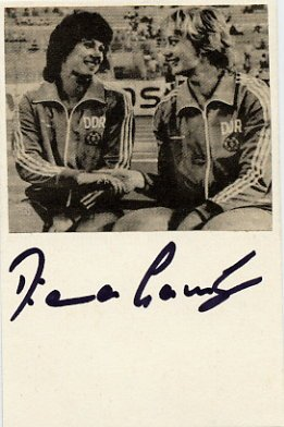 1988 Seoul Athletics Discus Silver DIANA GANSKY Autograph 1988