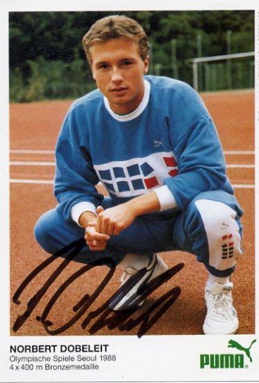 1988 Seoul Athletics 4x400m Relay Bronze NORBERT DOBELEIT Autographed Photo Card