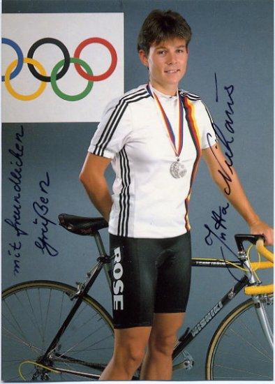 1988 Seoul Cycling  Silver JUTTA NIEHAUS Hand Signed Photo 1988