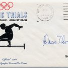 1968 Mexico City Gymnastics Olympian DAVID THOR Autographed Olympic Trials Cover 1968
