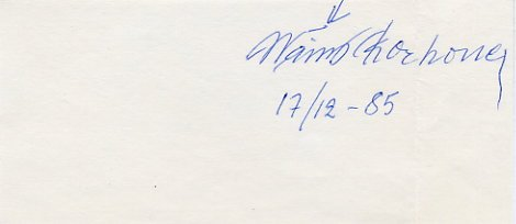 1956 Melbourne Modern Pentathlon Bronze WAINO KORHONEN Autograph 1985