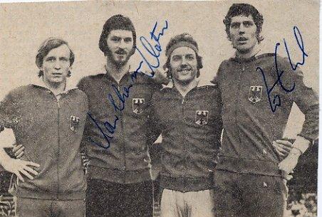 1972 Munich Athletics 4x100m Relay Bronze KLOTZ / EHL Autographs 1970s