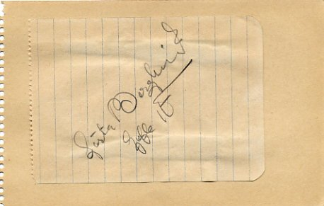 1948 London Athletics 1500m Olympian & WR GOSTA BERGKVIST Autograph 1940s