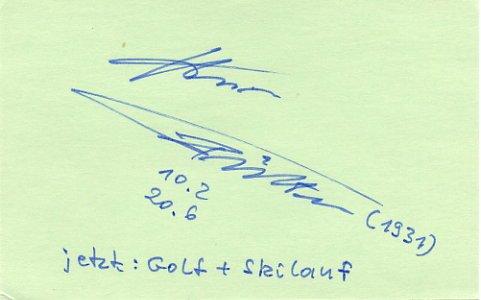 1956 Melbourne Athletics 4x100m Relay Bronze HEINZ FUTTERER Autograph