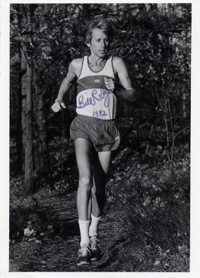 Four-Time Boston Marathon Winner BILL RODGERS Autographed Photo 1982
