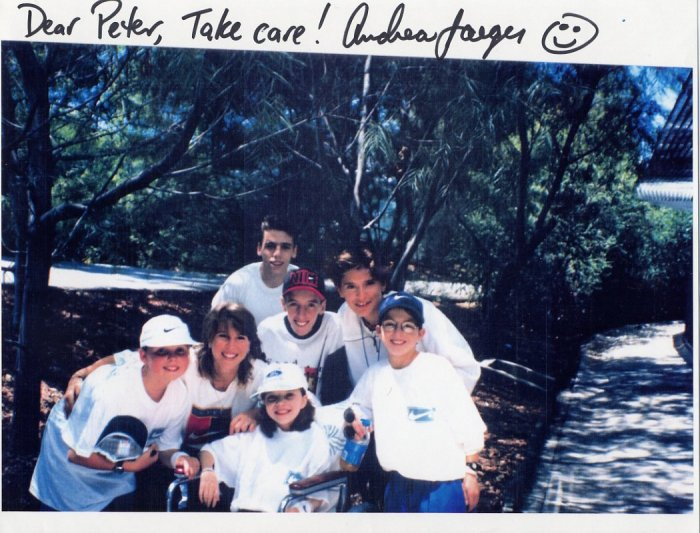 1980s Tennis Star ANDREA JAEGER Autographed Print 8,5x11