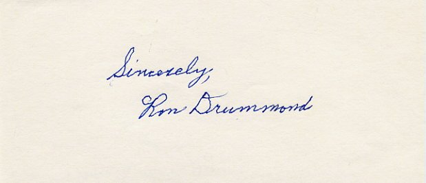 California Surfing Pioneer RON DRUMMOND Autograph  RARE!!!