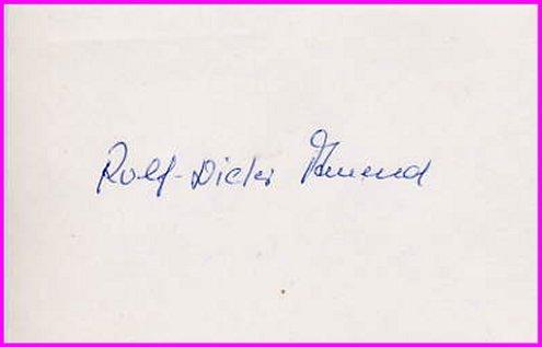 1972 Munich Canoeing Gold ROLF DIETER AMEND  Autograph