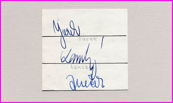 Czech Track & Field Olympians JUREK / LANSKY / JANECEK  Autographs 1958