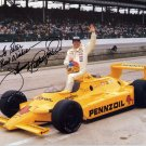 Three-time Indy 500 Winner JOHNNY RUTHERFORD Hand Signed Photo 8x10