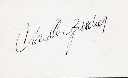1964 Innsbruck & 1968 Grenoble Alpine Skiing Gold MARIELLE GOITSCHEL Autographed Card