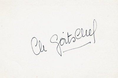 1964 Innsbruck Alpine Skiing Gold  CHRISTINE GOITSCHEL Autographed Card