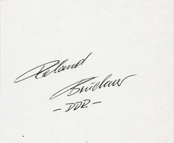 1980 Moscow Gymnastics Gold ROLAND BRUCKNER  Autograph 1980