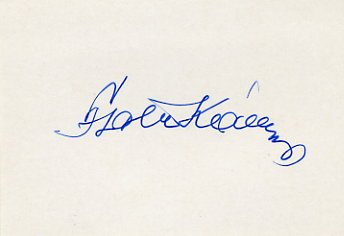 1968 Mexico City Football Gold KAROLY FATER  Autograph 1980s