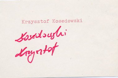 1980 Moscow Boxing Bronze KRZYSZTOF KOSEDOWSKI  Autograph 1980s
